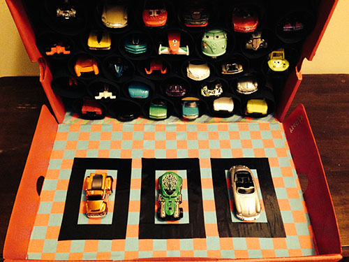 Shoe Box Toy Car Garage