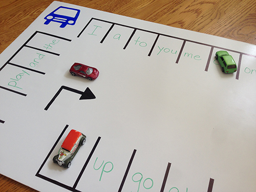 Image of Sight Words Parking Lot