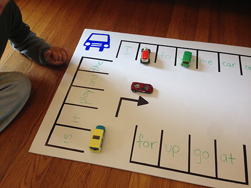 Sight Words Parking Lot Play